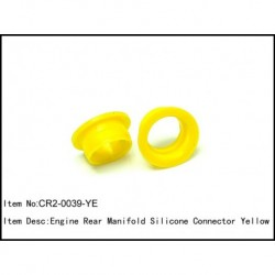 Engine rear manifold silicon connector Yellow