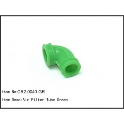 Airfilter tube 90 degrees Green