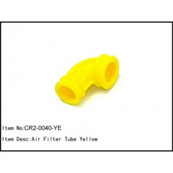 Airfilter tube 90 degrees Yellow