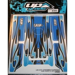 TEAM LOSI 8/8T STARTER BOX FLAME-BLUE