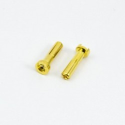 4.0mm BULLET CONNECTOR MALE (2pcs)