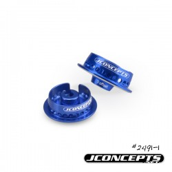 Jconcepts -Fin, 12mm shock collar - blue