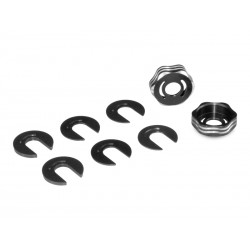 Jconcepts - RC8B3 Suspension arm cap and camber shim set - black