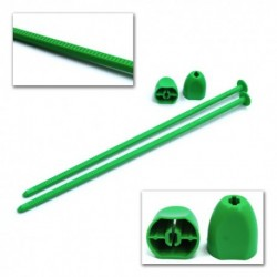Zip Stix for 1:10 2wd, 4wd and SC wheels Green, 2pcs