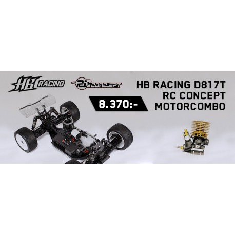 HB D817 Truggy med RC Concept motor combo