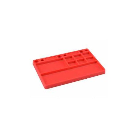 Jconcepts Parts Tray, rubber material - red