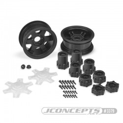 "Dragon - 2.6"" mega truck wheel w/ adaptors, discs - (black) - 2pc."