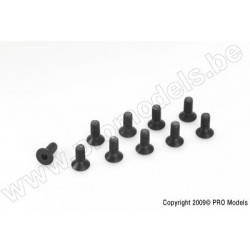 Socket Head Countersunk Screw, M3X10, Steel (10pcs)