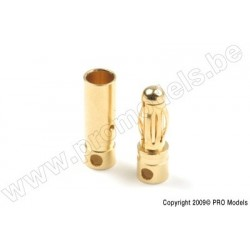 "4.0mm Gold Connector ""Short"", Male + Female (4pairs)"